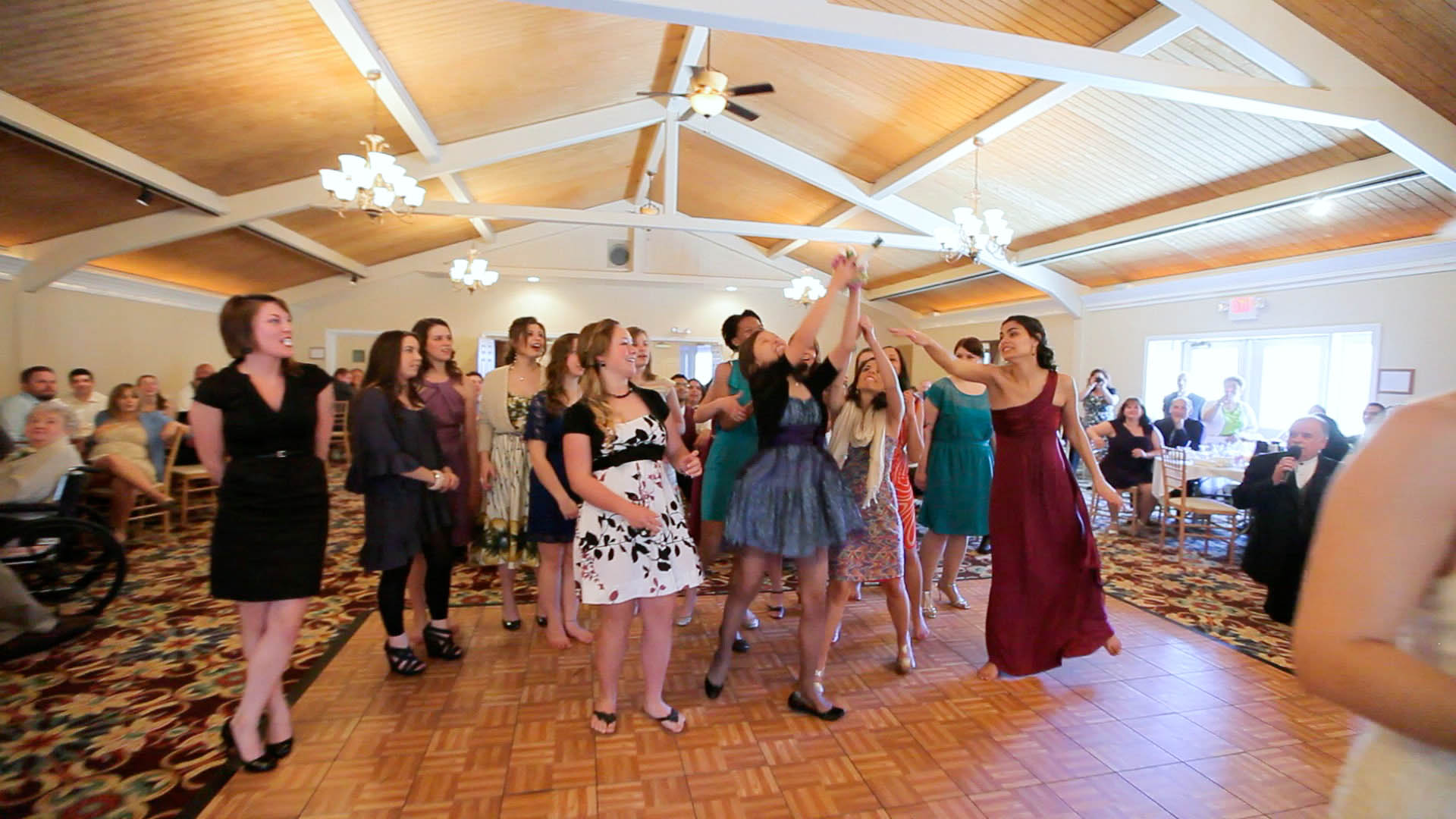 Hyatt At The Bellvue Wedding Images Bouquet Toss Photo
