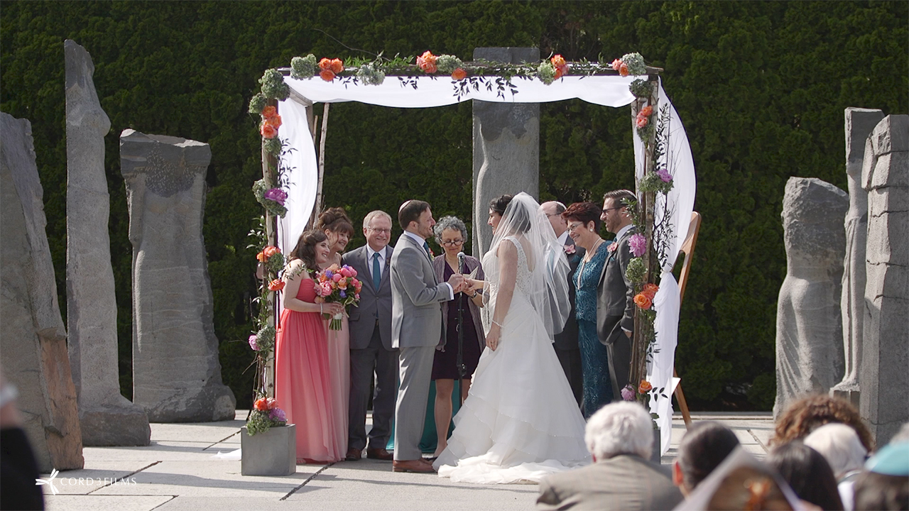 grounds for sculpture wedding video